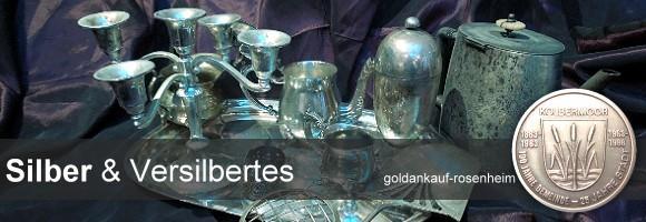 Ankauf von: Tafelsilber, Silbergegenständen, Sterlingsilber und Versilbertem = Hotelsilber in jeder Form © goldankauf-rosenheim.de