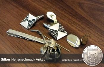 Bar, Diskret & fair könne Sie bei uns Herrenschmuck aus Silber wie - Manschettenknöpfe, Krawattennadeln, Anstecknadeln, Abzeichen aus silber verkaufen.
