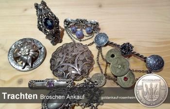 Wir kaufen Trachtenbroschen, Trachtennadeln, Drindlnadeln, Anstecker - goldankauf-rosenheim.de