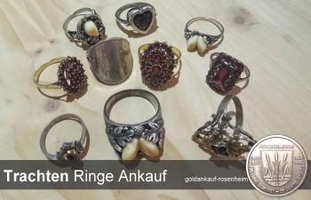 Ankauf von Ringen mit Grandln, verarbeiteten Münzen & vergoldet.
