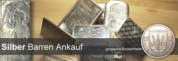 Fairer Ankauf von: Silberbarren, Barrenmünzen, Bullionsilber, Barrenmünzen in Rosenheim. © goldankauf-rosenheim.de