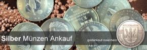 Silbermünzen Ankauf - Silber Münzen verkaufen © goldankauf-rosenheim.de